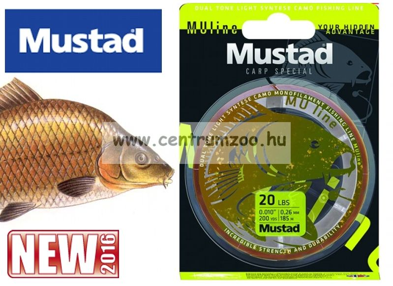 Mustad Carp Line 18 LB - 300m- 0,33mm monofil zsinór (NLMU10216)