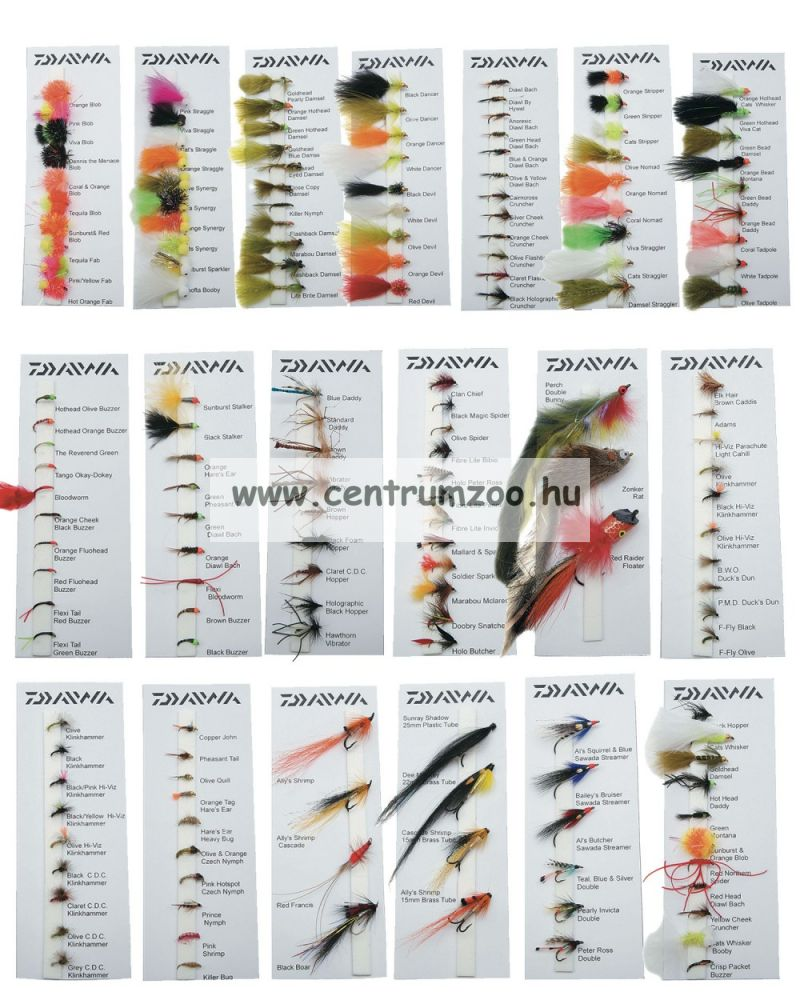 Daiwa Goldhead Lures Selection DFC-8 műlégy szett NEW Collection