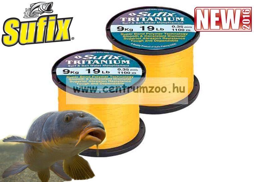 Sufix Tritanium Neon Gold 1120m 0,35mm 9kg bojlis zsinór