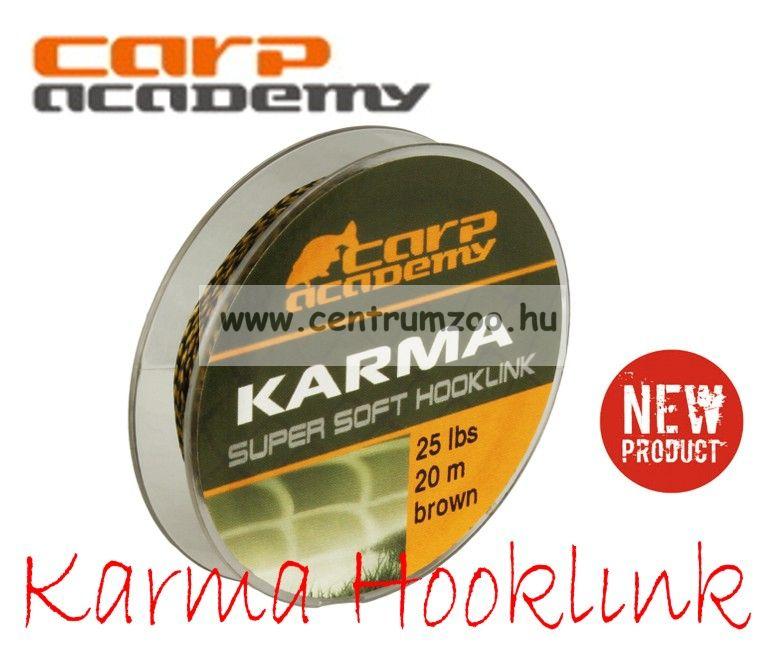 CARP ACADEMY Karma Hooklink 25m 15lb Brown (3311-915)
