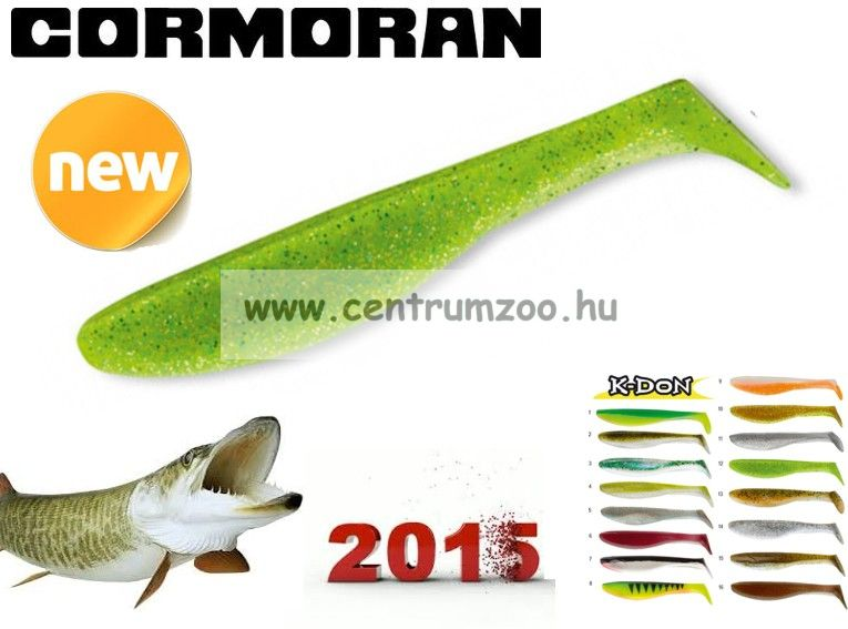 Cormoran K-Don S9 prémium gumihal 13cm GREEN-CHARTREUSE  (51-28312)