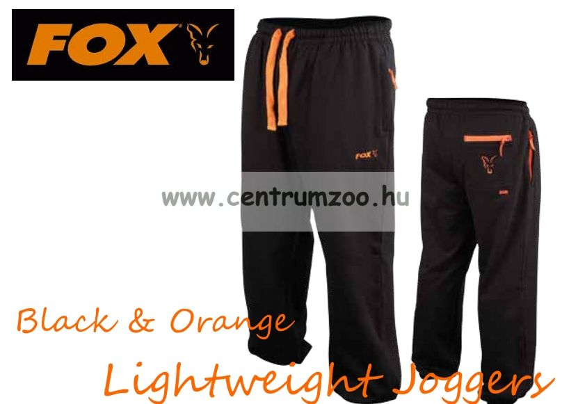 FOX Black & Orange Lightweight Joggers melegítő nadrág XL (CPR427)