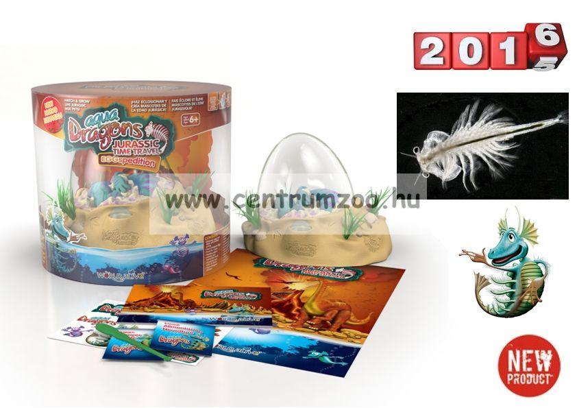 World Alive Aqua Dragons Őslénypark – Őskori sárkányok dinoszaurusz Keltető tojásban LED világítással (4007)