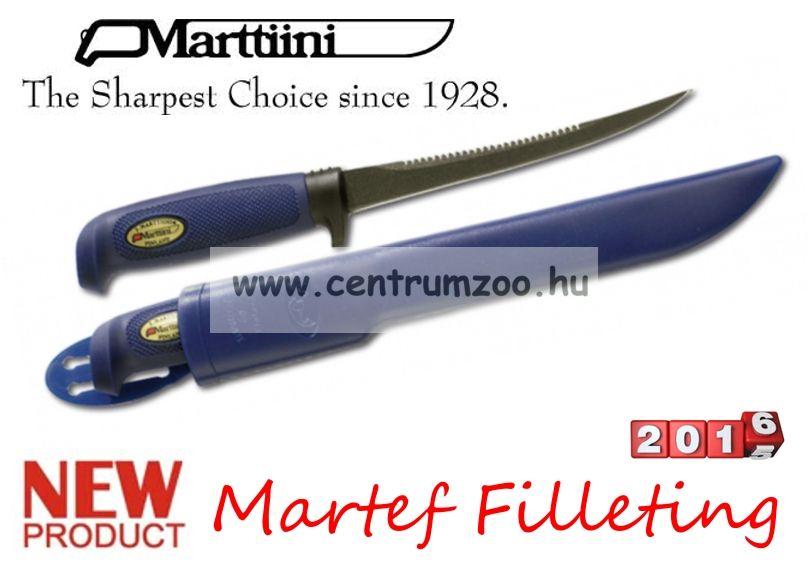 Marttiini Martef Filleting 27cm (fűrészes, műanyag tokkal) kés 826018T