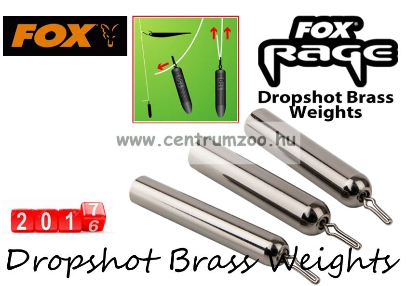 Fox Rage Dropshot Brass Weights  7g 4db dropshot ólom (NLD023)