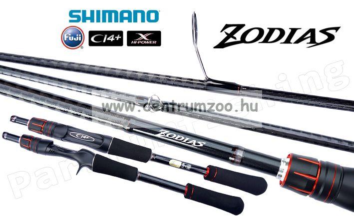 Shimano bot ZODIAS 6'4 L 193cm 3-10gr 2 részes (ZODIAS264L2) pergető bot