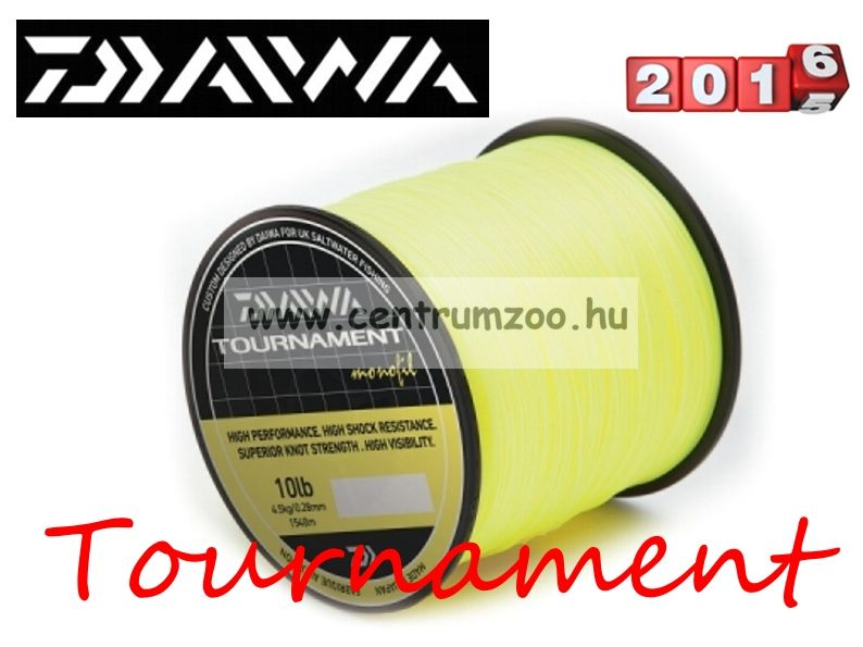 Daiwa Tournament Fluoror Yellow 12lb 0,31mm 1320m prémium zsinór (TFYM120)