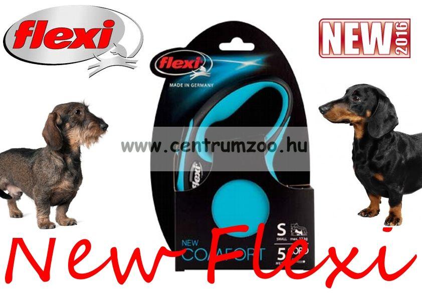 Flexi New Comfort M Cord zsinóros póráz 8m 20kg - KÉK (11746)