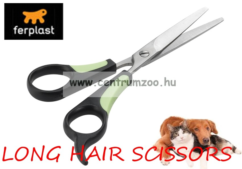 Ferplast Long Hair prémium szőrvágó olló 5810