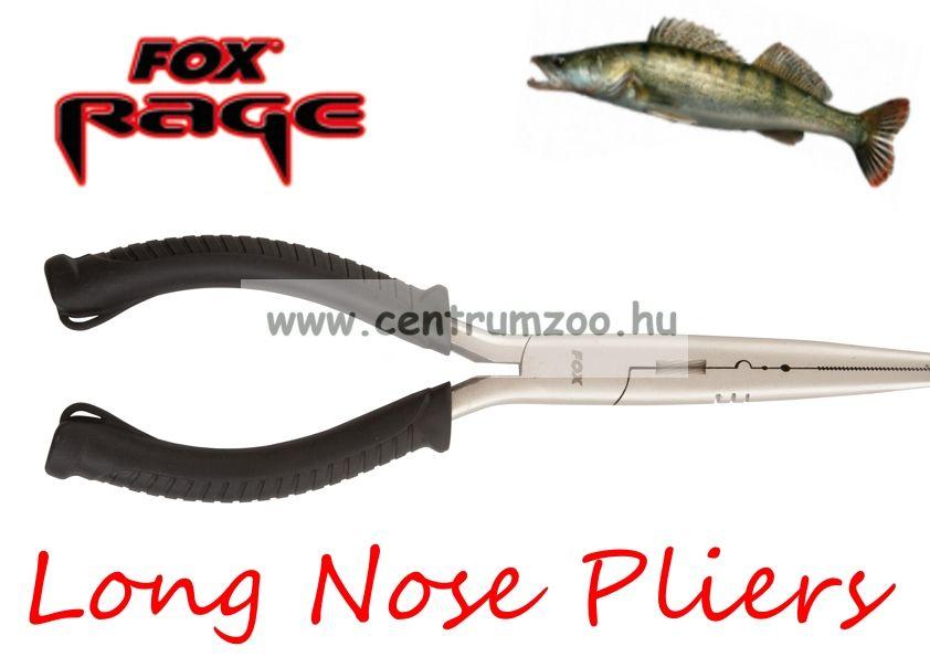 "Fox Rage Long Nose Pliers multifunkciós fogó 21.6cm/8.5"" hosszú (NTL030)"