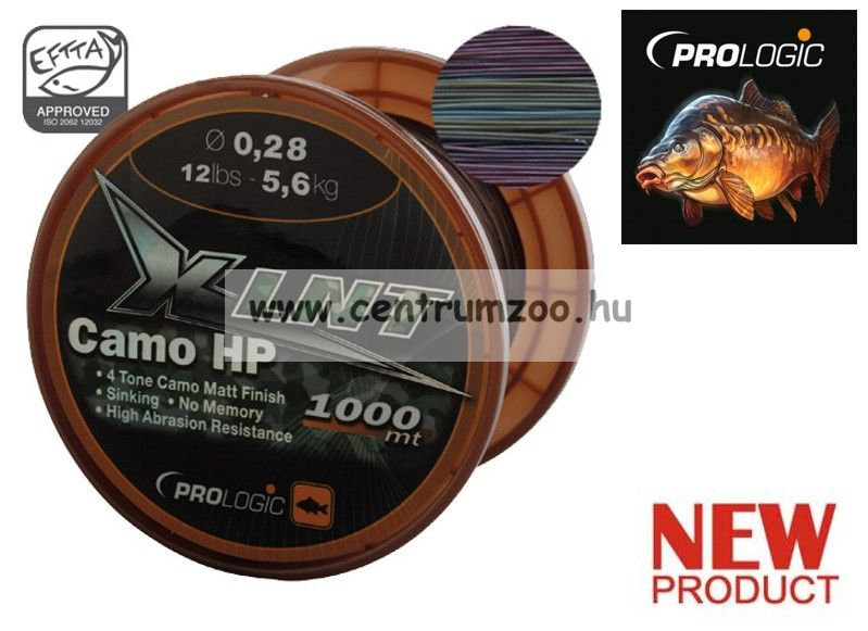 PROLOGIC XLNT HP 1000m 14lbs 6.6kg 0.30mm Camo zsinór (44692)