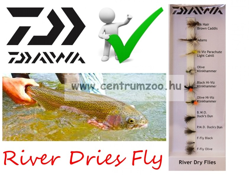 Daiwa River Dry Flies Selection DFC-3 műlégy szett NEW Collection