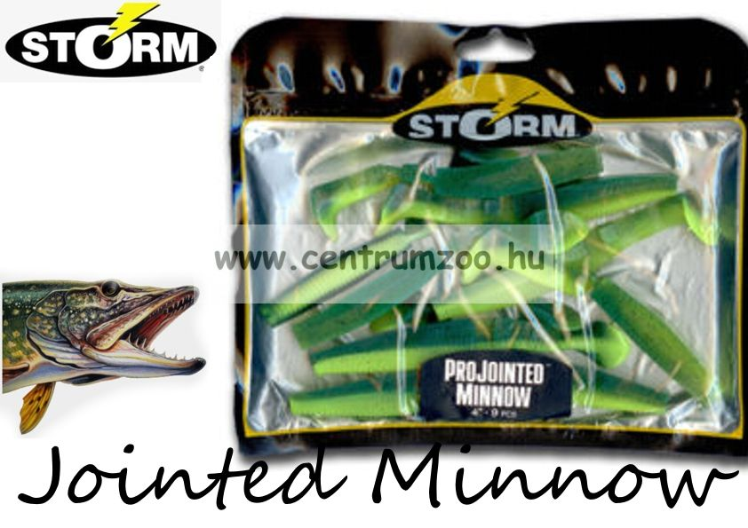 Storm Jointed Minnow PJM06 gumihal csomag 15cm 6db Green Chartreuse (GRCH)