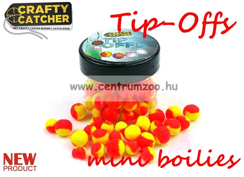 Crafty Catcher Tip Offs mini boilies  - 6 és 8 mm  20 g - SuperSweet Pineapple - édes ananász