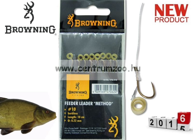 BROWNING Ready Rigs Hooks előkötött horog karikával 14-es méret 0,18mm 8db (4706014)