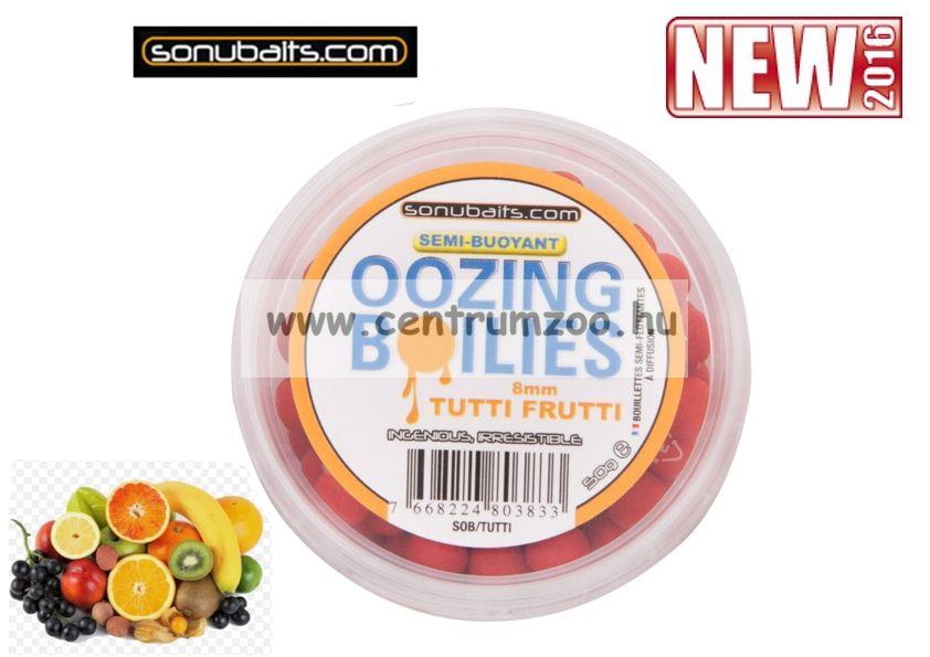 Sonubaits Oozing Semi-Buoyant 8mm pop-up Tutti-Frutti - gyümölcsös ízű vérző bojli (SOB/TUTT)
