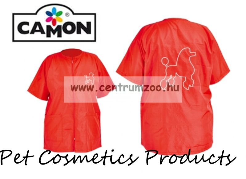 Camon Professional Grooming Red Coat kutyakozmetikusi kötény Small (G656/A)