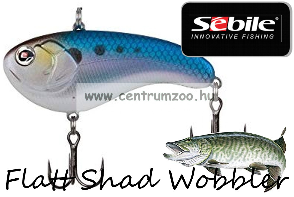 Sebile® Flatt Shad megbízható wobbler FS-050-SK - American Shad AMS (1404993)