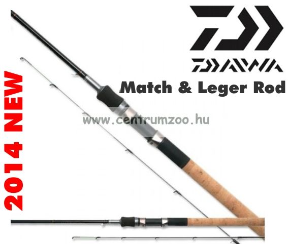 Daiwa New Team Daiwa Match & Leger Rod  12ft -  Medium Power -  TDF12Q (191930)