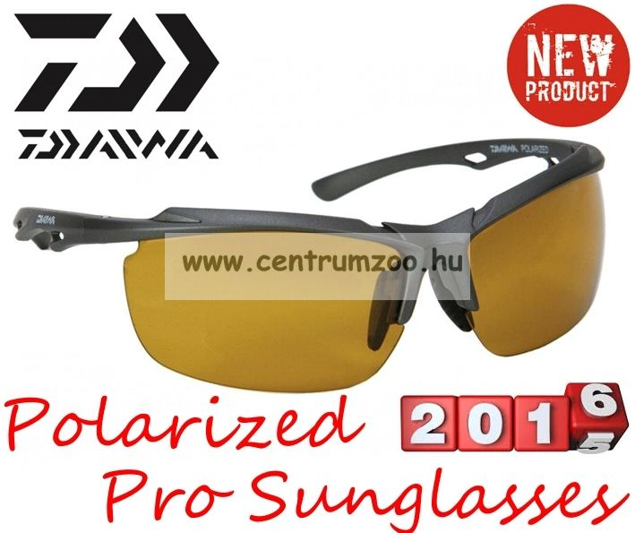Daiwa Polarized Sunglasses grey frame amb lens modell DPROPSG2 - borostyánszín lencse (202723)