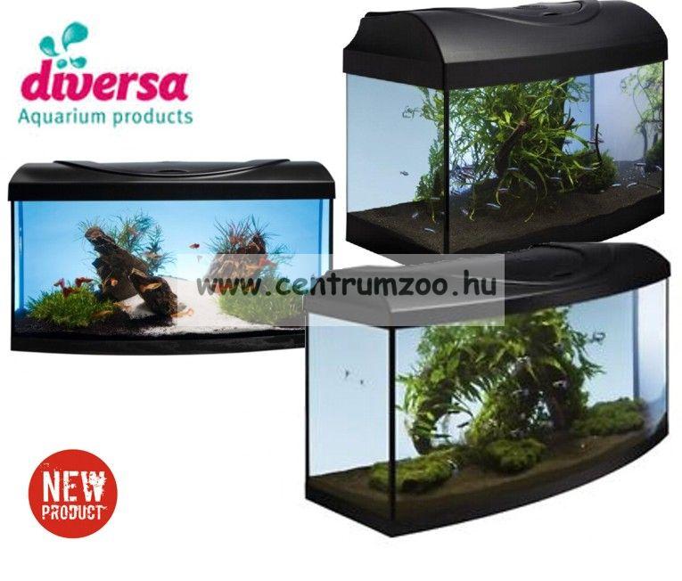 DIVERSA 80 LED New ÍVES 102 literes felszerelt akvárium szett