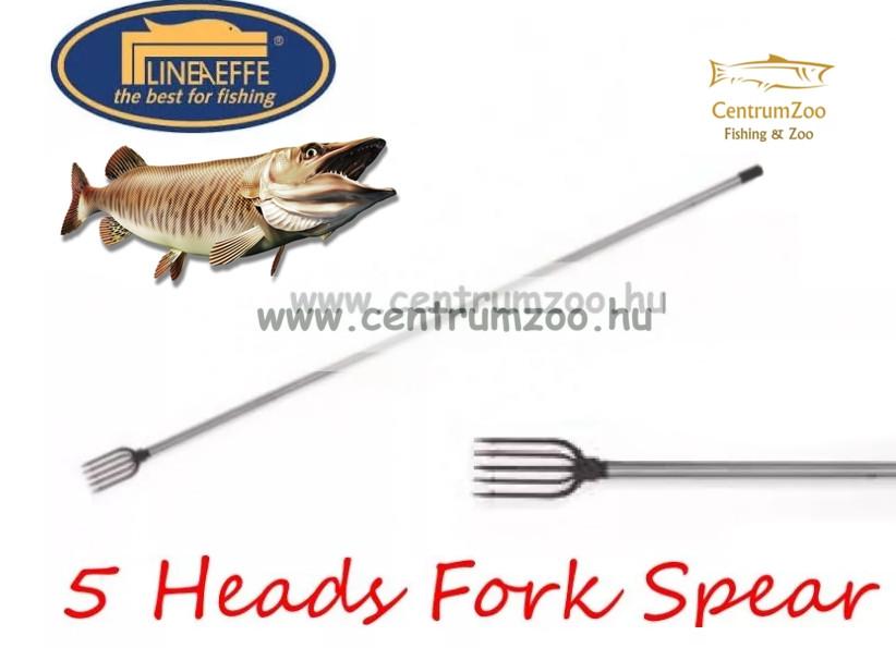 Lineaeffe  5 HEADS FORK SPEAR 5 ágú szigony 120cm nyéllel (6320011)