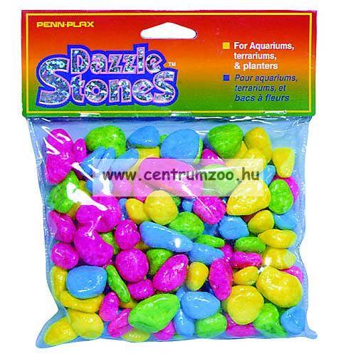 Penn Plax Dazzle Stones akvárium dekor aljzat kavics - MULTI COLORS 900g (010606)