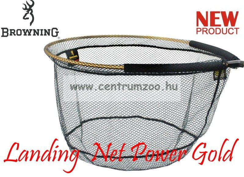 MERÍTŐFEJ  Browning Landing  Net Power Gold  55x45cm 28cm mély (7029027)