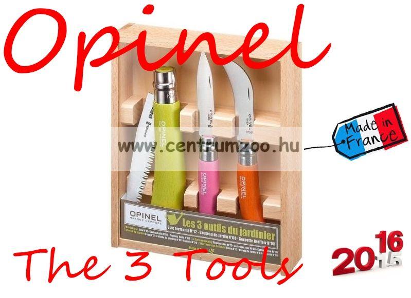 Opinel Collecting The 3 Tools Box kések+fűrész+díszdoboz szett (001617)