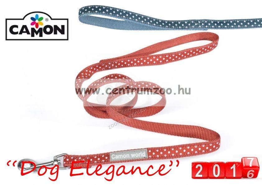 Camon Dog Elegance Blue 10mmx1,2m textil póráz (DC062/G) kék