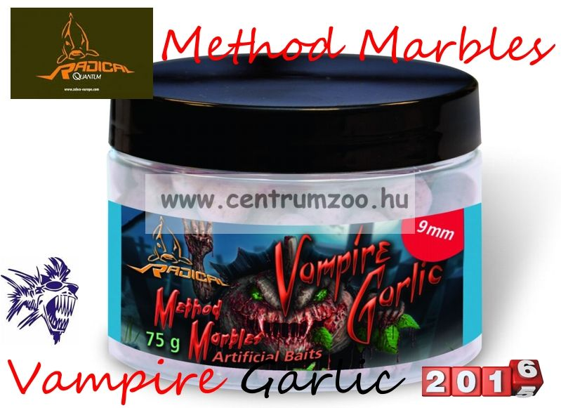 Radical Carp Method Marbles Vampire Garlic  9mm 75g (3962106) süllyedő