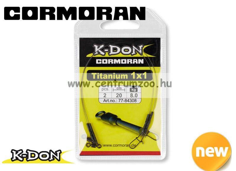 Cormoran K-DON Titanium 30cm 12kg prémium harapásálló előke (77-84412)