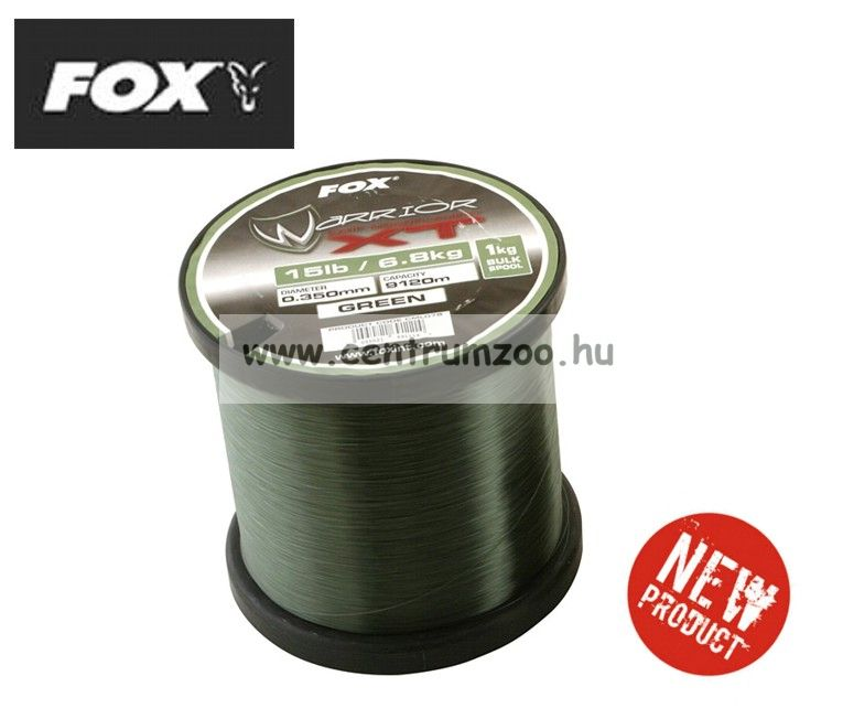 FOX WARRIOR XT Green Carp Line 15lb 0.350mm - 1030m monofil zsinór (CML076)