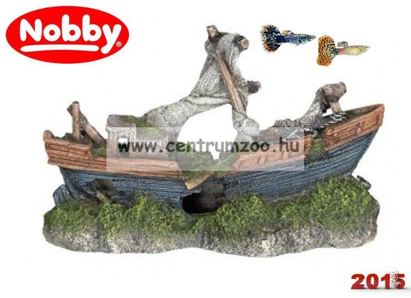 Nobby akvárium dekorációs elsüllyedt csónak 21*13,5*8cm (28026)