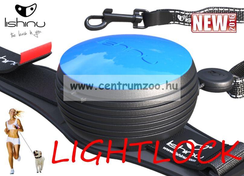LISHINU LIGHTLOCK automata póráz 3m 8kg-ig (116571) BLACK