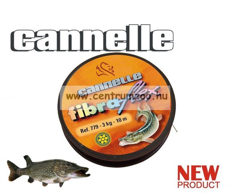 CANNELLE FIBRAFLEX köthető csukás, süllős kevlárbevonatos előkezsinór 10m  (779)