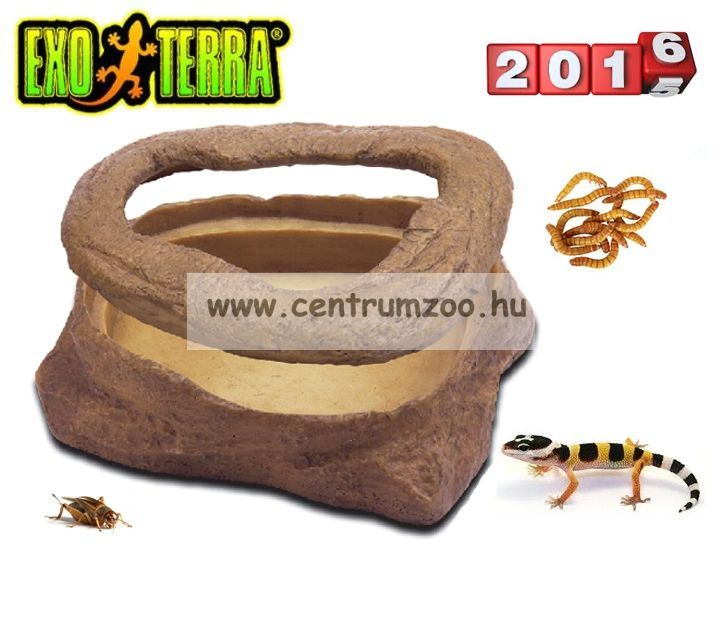 Exo-Terra kukaccal etető tál (12x9x4cm) 2816