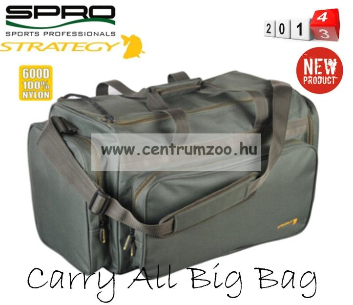 Spro Strategy Carry-All Big Carp Bag XL 58*33*32cm pontyos táska rekeszekkel (6400-203)