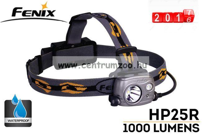 FENIX HP25R LED FEJLÁMPA (360 LUMEN) vízálló 153m fényerő (004563)