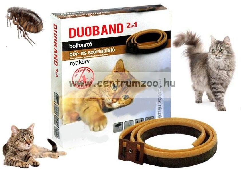 Duoband DuoColor 2in1 macska bolhanyakörv 36cm