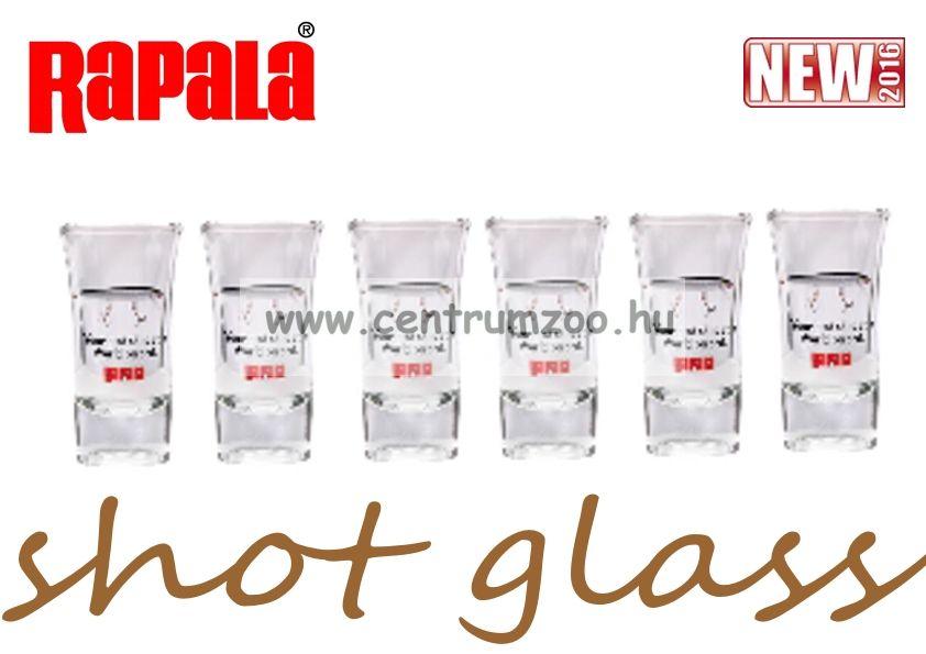 RAPALA Shot Glass pálinkás pohár szett 6db 35ml (RASGS )
