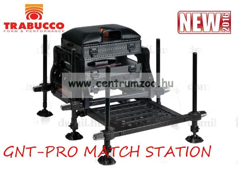 Trabucco SEATBOX GNT-PRO MATCH STATION versenyláda, teljesen felszerelt láda (116-00-580)