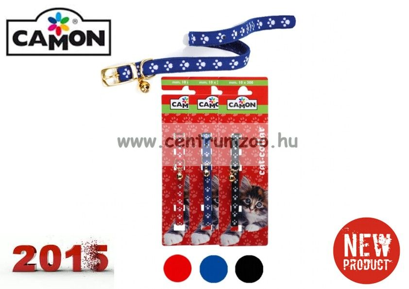 Camon Cat Elastico textil nyakörv cicáknak több színben (D773)
