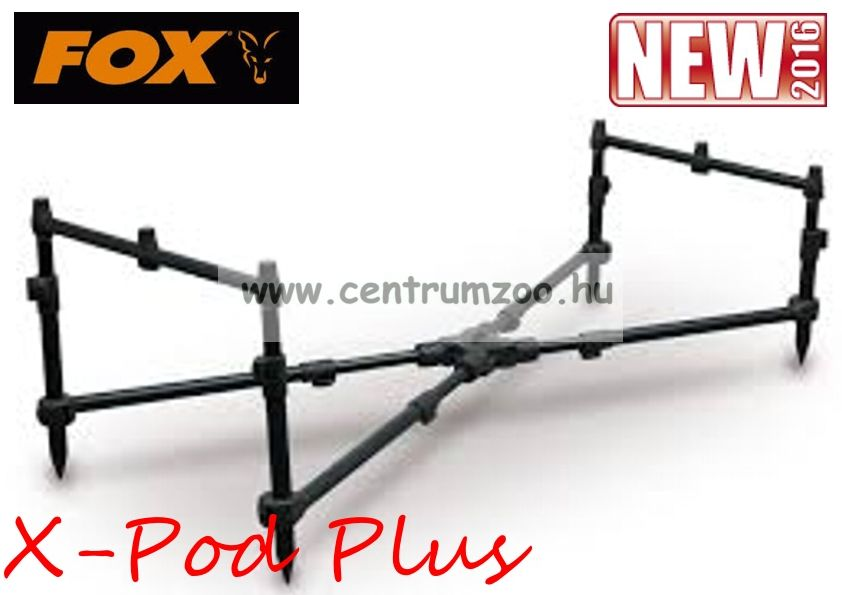 FOX X-Pod Plus (with goal post buzz bar) masszív bottartó állvány 3 bothoz (RP3495)