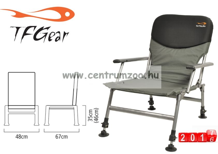 TF GearChill Out - Arm Chair - karfás horgászfotel 125kg  (TFG-CHILL-ARM)