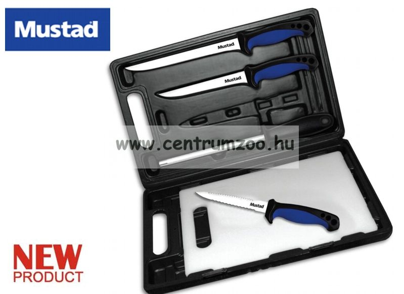 Mustad 6in1 Knife Kit KÉS-DESZKA-ÉLEZŐ SZETT (MT027)