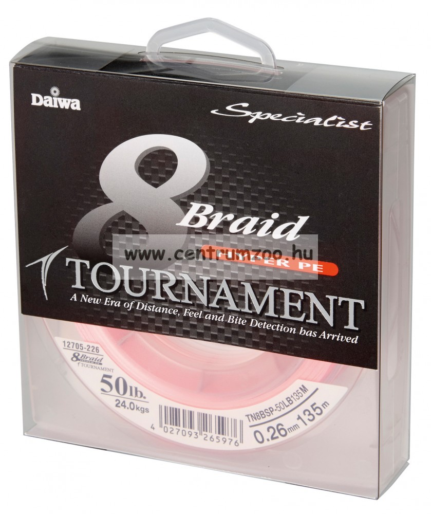 DAIWA TOURNAMENT 8X Braid 135m 0,30mm 29,0kg fonott zsinór (12705-130) chartreuse