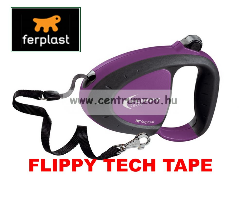 Ferplast Flippy Tech Deluxe Tape Medium Purple szalagos póráz - LILA