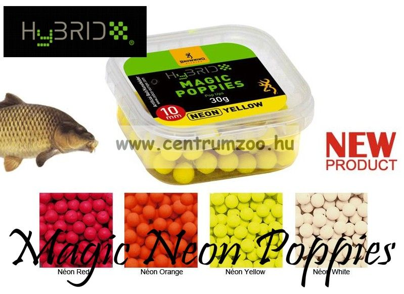 BROWNING Hybrid Magic Neon Poppies neon white 8mm 30g (3959404)