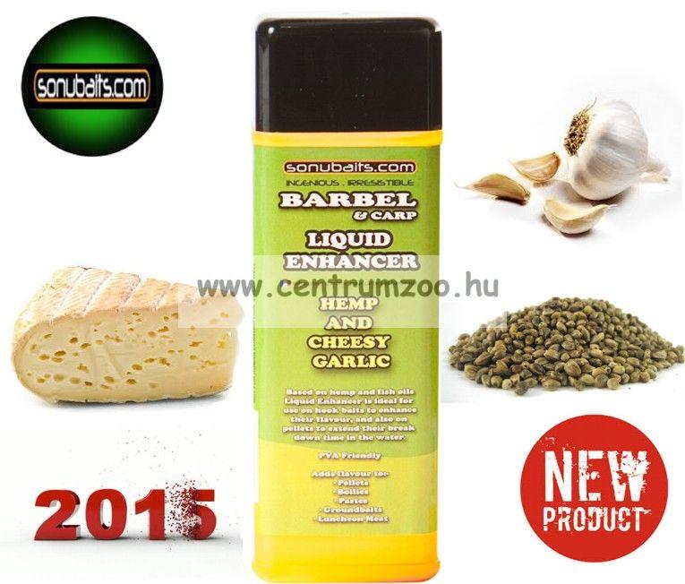 Sonubaits Flavour HEMP & CHEESY GARLIC OIL kender és sajtos foghagyma olaj aroma (SLF/HCG)